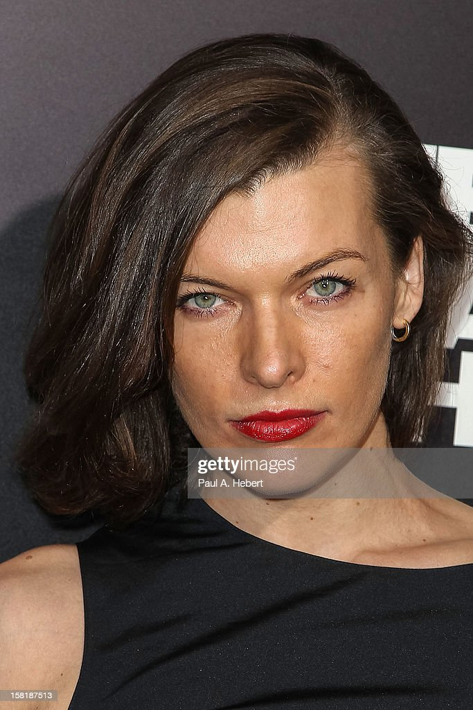 Actress <a gi-track='captionPersonalityLinkClicked' href=/galleries/search?phrase=Milla+Jovovich&family=editorial&specificpeople=202207 ng-click='$event.stopPropagation()'>Milla Jovovich</a> arrives at the premiere of Columbia Pictures' 'Zero Dark Thirty' held at the Dolby Theatre on December 10, 2012 in Hollywood, California.