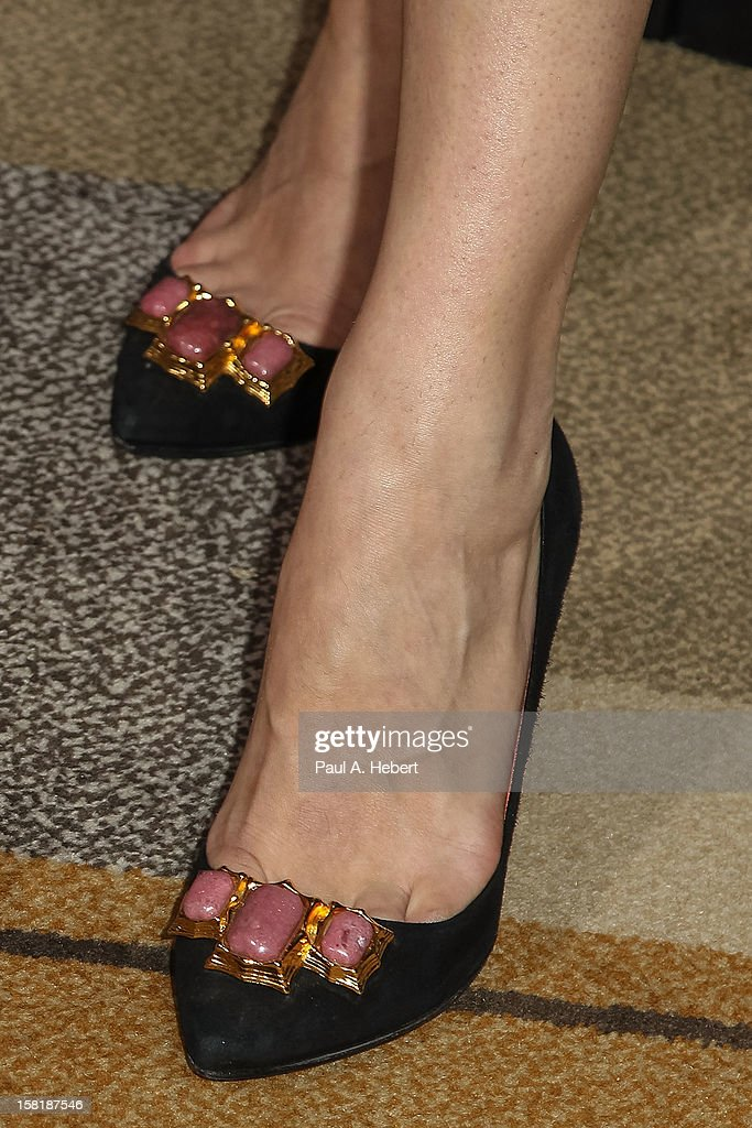 Actress Milla Jovovich (shoe detail) arrives at the premiere of Columbia Pictures' 'Zero Dark Thirty' held at the Dolby Theatre on December 10, 2012 in Hollywood, California.