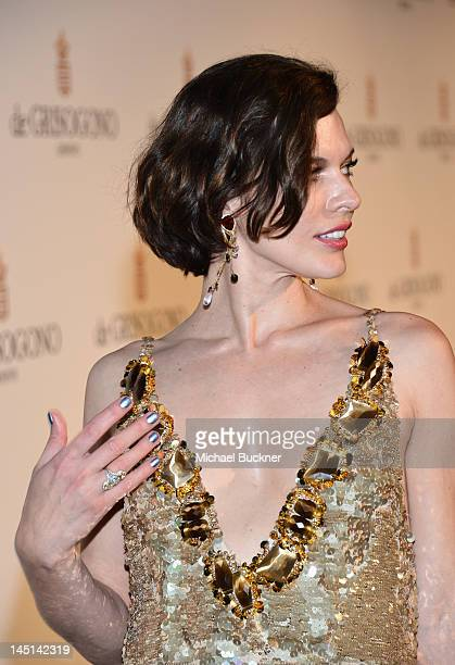 Actress Milla Jovovich attends de Grisogono Glam Extravaganza at Hotel Du Cap EdenRoc on May 23 2012 in Cap D'Antibes France