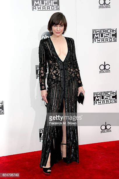 Actress Milla Jovovich attends the 2016 American Music Awards at Microsoft Theater on November 20 2016 in Los Angeles California