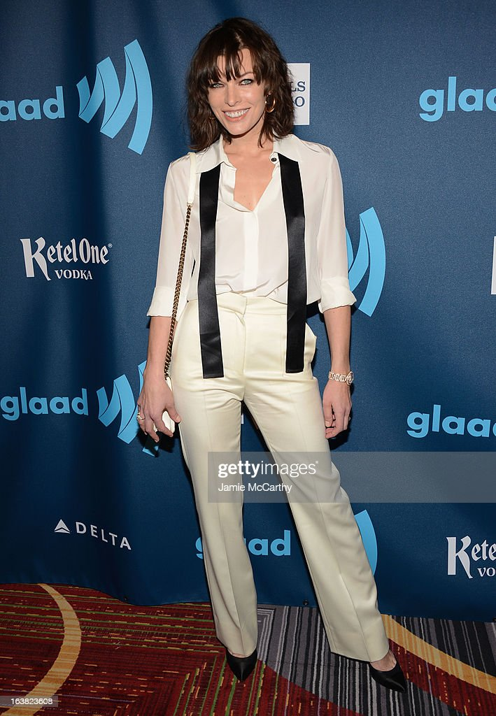 Actress Milla Jovovich attends the 24th Annual GLAAD Media Awards on March 16, 2013 in New York City.