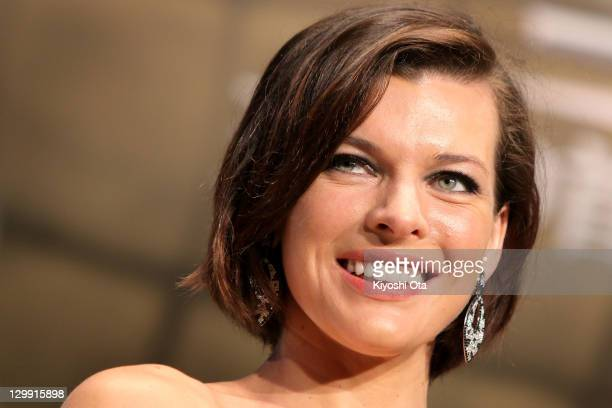 Actress Milla Jovovich attends the 24th Tokyo International Film Festival Opening Ceremony at Roppongi Hills on October 22 2011 in Tokyo Japan One of...