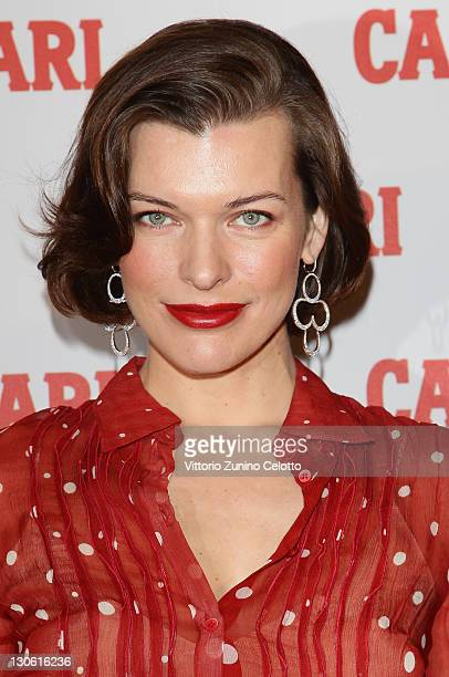 Actress Milla Jovovich attends the Campari Unveils 2012 Calendar photocall at Visionnaire Design Gallery on October 27 2011 in Milan Italy