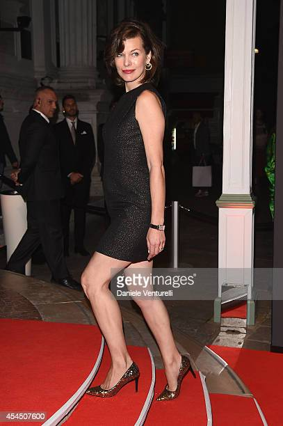 Actress Milla Jovovich attends the JaegerLeCoultre Gala Dinner during the 71st Venice Film Festival on September 2 2014 in Venice Italy