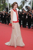 Actress Milla Jovovich attends the 'La Conquete' premiere during 64th Annual Cannes Film Festival at Palais des Festivals on May 18 2011 in Cannes...