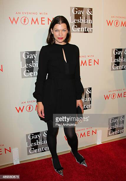 Actress Milla Jovovich attends the LA Gay Lesbian Center's 2014 An Evening With Women at The Beverly Hilton Hotel on May 10 2014 in Beverly Hills...