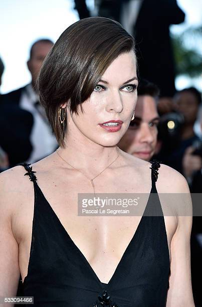 Actress Milla Jovovich attends 'The Last Face' Premiere during the 69th annual Cannes Film Festival at the Palais des Festivals on May 20 2016 in...