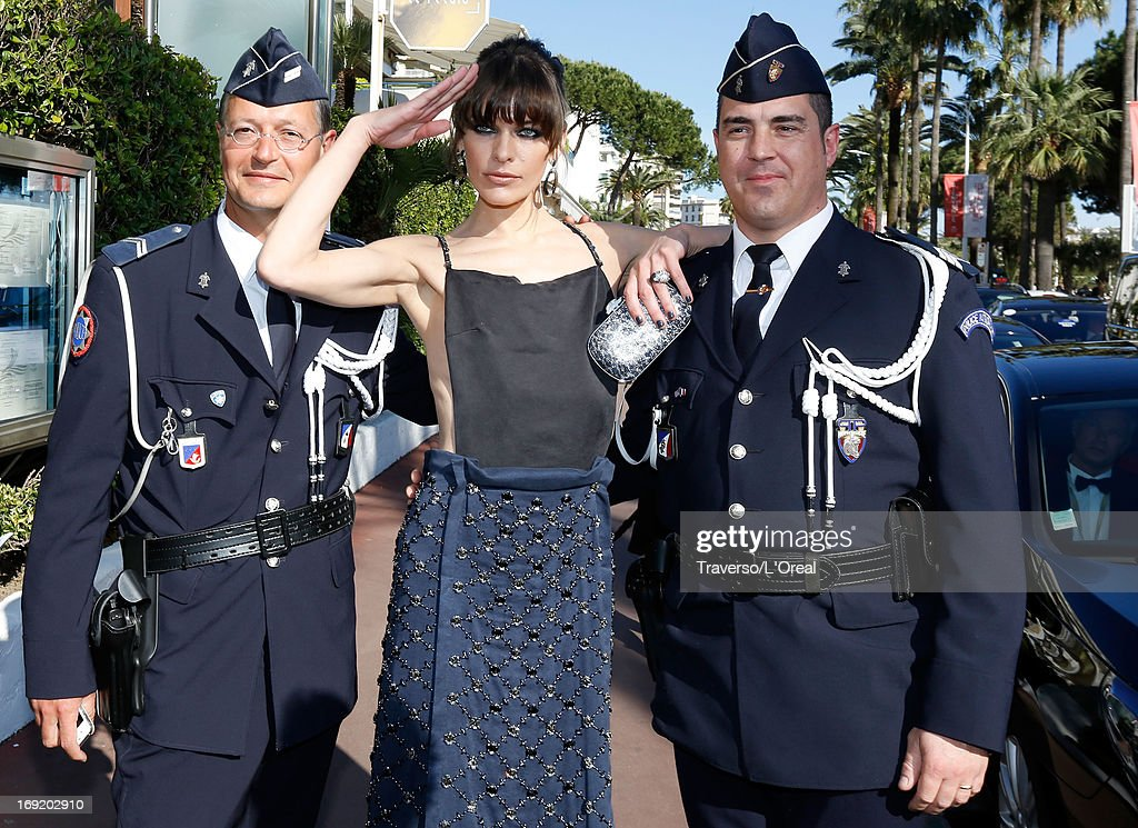 Actress <a gi-track='captionPersonalityLinkClicked' href=/galleries/search?phrase=Milla+Jovovich&family=editorial&specificpeople=202207 ng-click='$event.stopPropagation()'>Milla Jovovich</a> attends the L'Oreal Cocktail Reception during The 66th Cannes Film Festival on May 21, 2013 in Cannes, France.