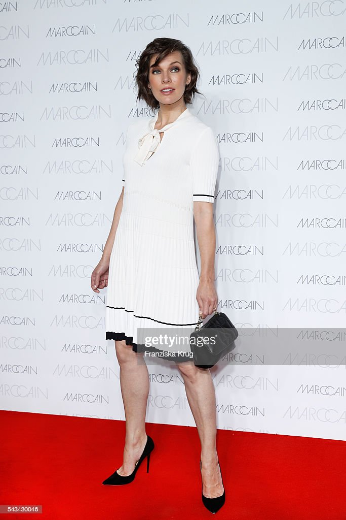 US actress Milla Jovovich attends the Marc Cain show Spring/Summer 2017 at CITY CUBE Panorama Bar on June 28, 2016 in Berlin, Germany.