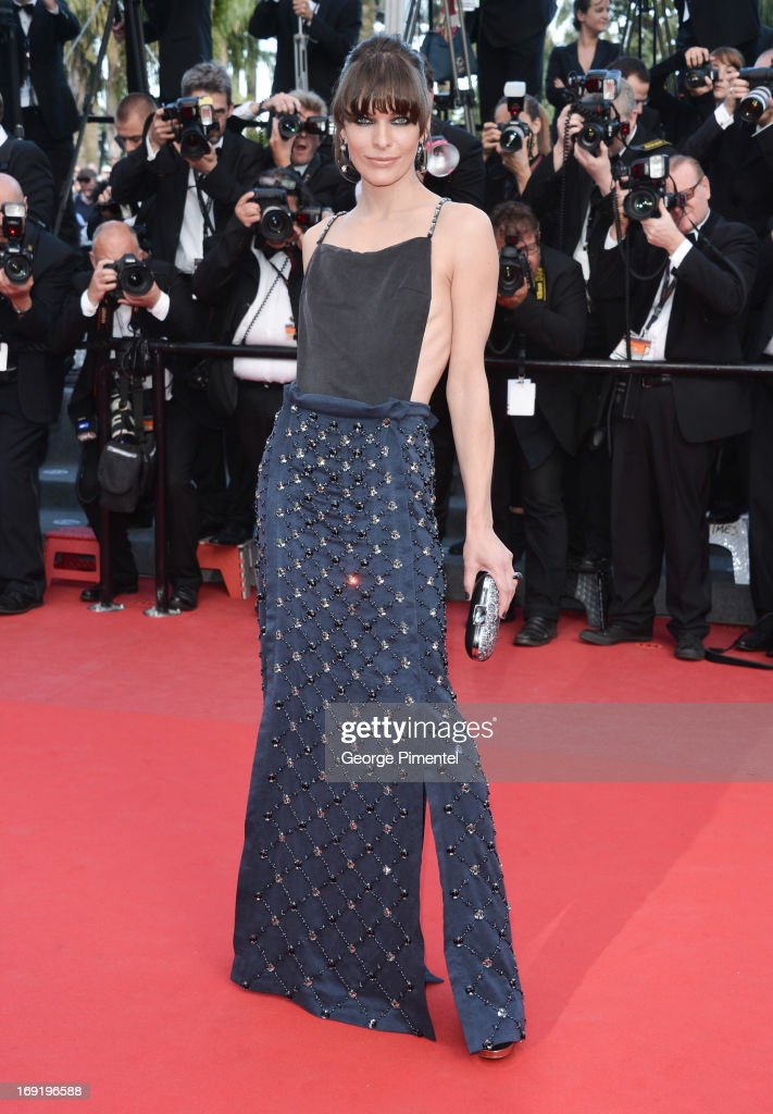 Actress Milla Jovovich attends the Premiere of 'Cleopatra' at The 66th Annual Cannes Film Festival on May 21, 2013 in Cannes, France.