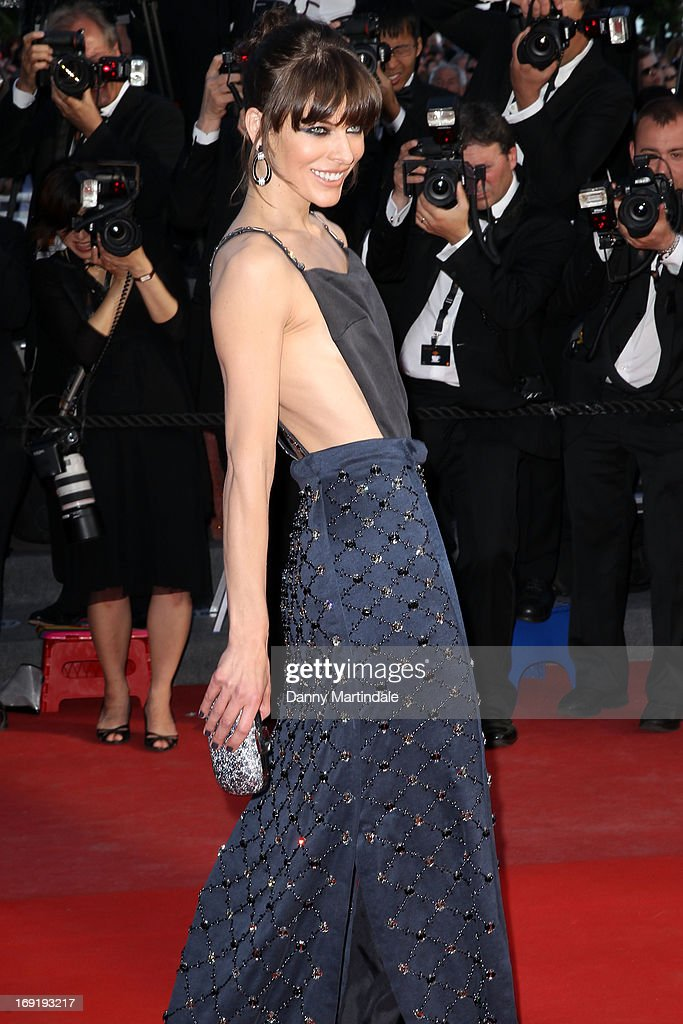 Actress Milla Jovovich attends the Premiere of 'Cleopatra' during the 66th Annual Cannes Film Festival at the Palais des Festivals on May 21 2013 in...