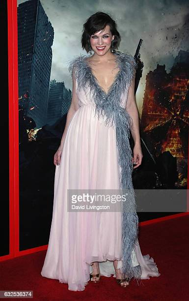 Actress Milla Jovovich attends the premiere of Sony Pictures Releasing's 'Resident Evil The Final Chapter' at Regal LA Live A Barco Innovation Center...