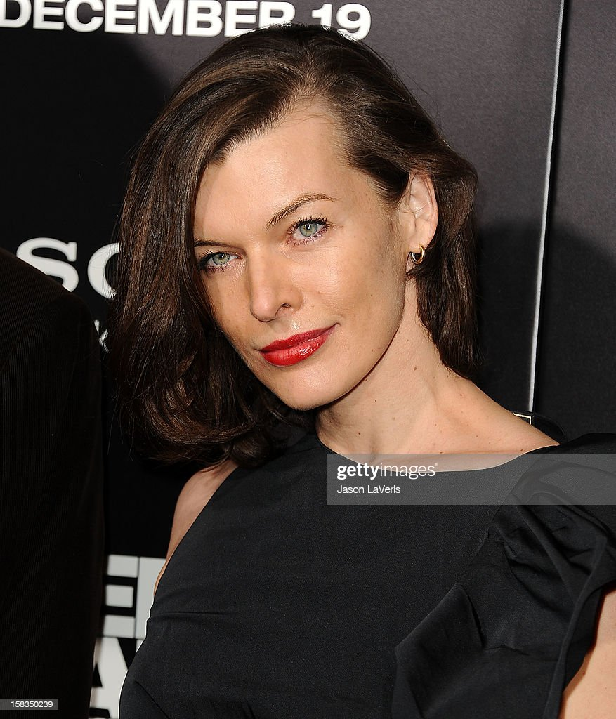 Actress <a gi-track='captionPersonalityLinkClicked' href=/galleries/search?phrase=Milla+Jovovich&family=editorial&specificpeople=202207 ng-click='$event.stopPropagation()'>Milla Jovovich</a> attends the premiere of 'Zero Dark Thirty' at the Dolby Theatre on December 10, 2012 in Hollywood, California.