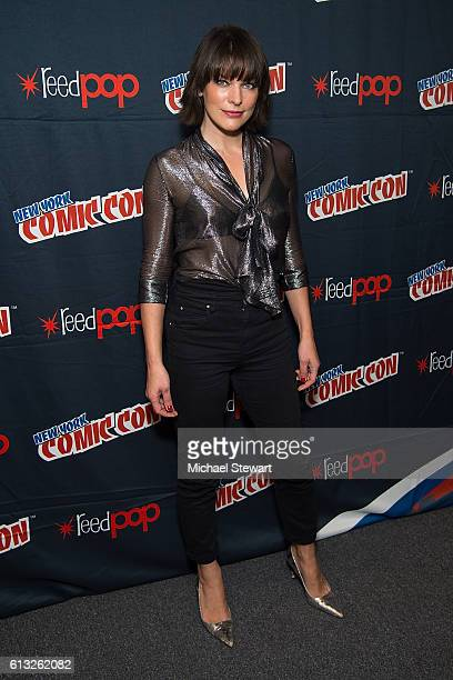Actress Milla Jovovich attends the Screen Gems Resident Evil The Final Chapter and Underworld Blood Wars press room during 2016 New York Comic Con at...