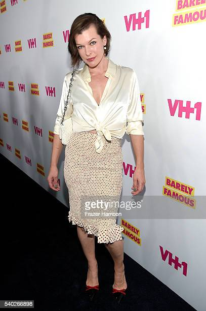 Actress Milla Jovovich attends VH1's 'Barely Famous' Season 2 Party on June 14 2016 in West Hollywood California