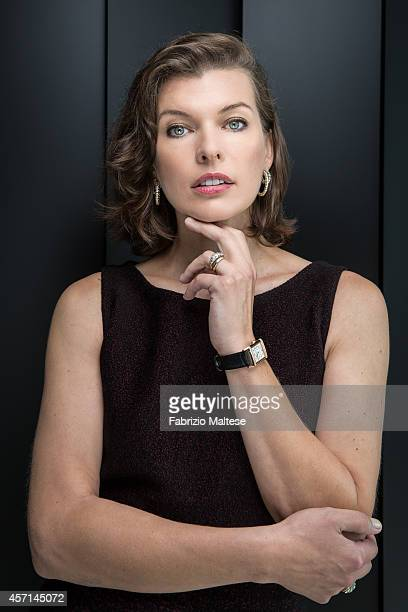 Actress Milla Jovovich is photographed for Self Assignment on September 1 2014 in Venice Italy