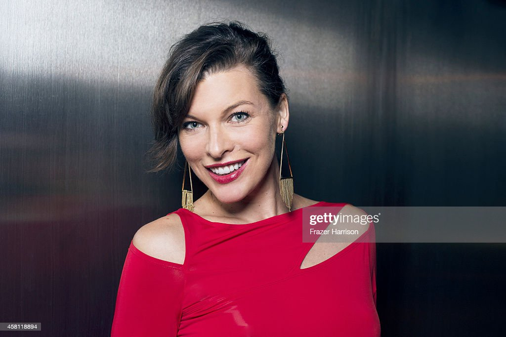 Actress <a gi-track='captionPersonalityLinkClicked' href=/galleries/search?phrase=Milla+Jovovich&family=editorial&specificpeople=202207 ng-click='$event.stopPropagation()'>Milla Jovovich</a> poses for a portrait at the amfAR LA Inspiration Gala on October 29, 2014 in Los Angeles, California.