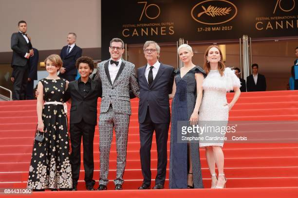 Actress Millicent Simmonds actor Jaden Michael Screenwriter Brian Selznick Director Todd Haynes actresses Michelle Williams and Julianne Moore attend...