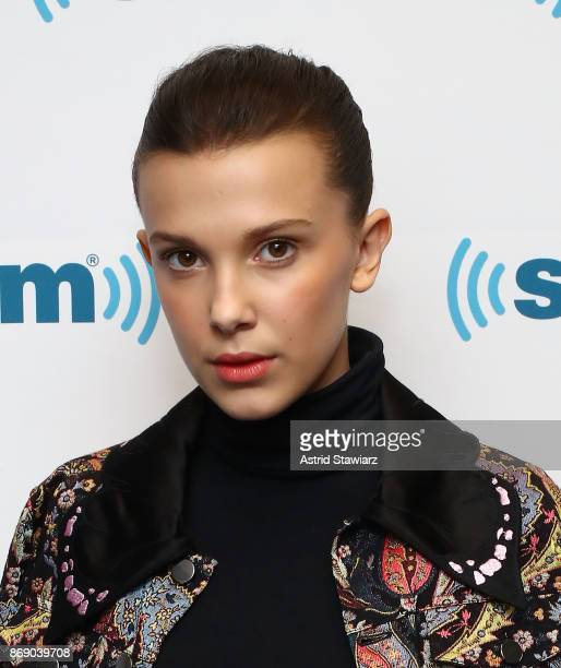 Actress Millie Bobby Brown attends SiriusXM's 'Town Hall' with the cast of Stranger Things on SiriusXM's Entertainment Weekly Radio on November 1...