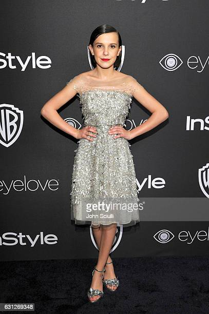 Actress Millie Bobby Brown attends The 2017 InStyle and Warner Bros 73rd Annual Golden Globe Awards PostParty at The Beverly Hilton Hotel on January...