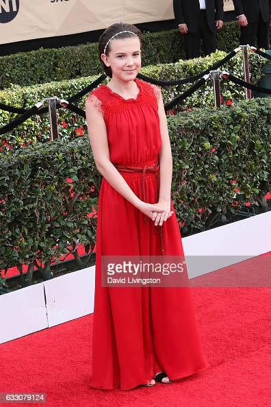 Actress Millie Bobby Brown attends the 23rd Annual Screen Actors Guild Awards at The Shrine Expo Hall on January 29 2017 in Los Angeles California