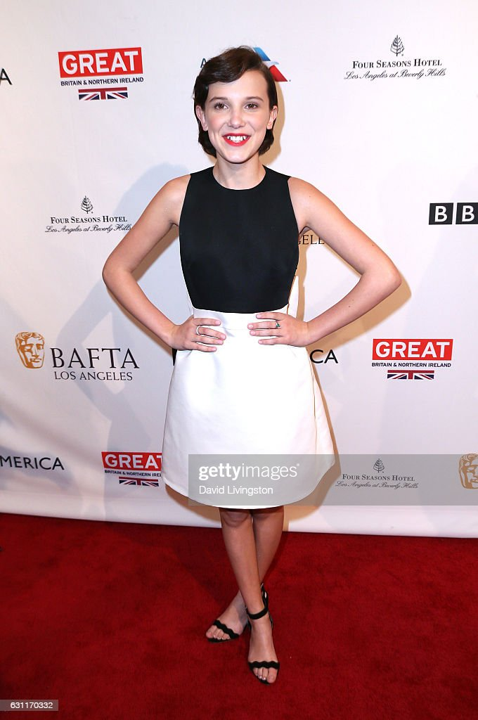 Actress Millie Bobby Brown attends The BAFTA Tea Party at Four Seasons Hotel Los Angeles at Beverly Hills on January 7, 2017 in Los Angeles, California.