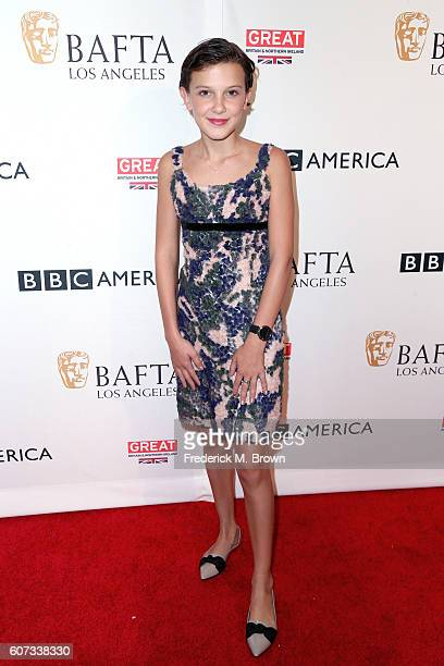 Actress Millie Bobby Brown attends the BBC America BAFTA Los Angeles TV Tea Party 2016 at The London Hotel on September 17 2016 in West Hollywood...