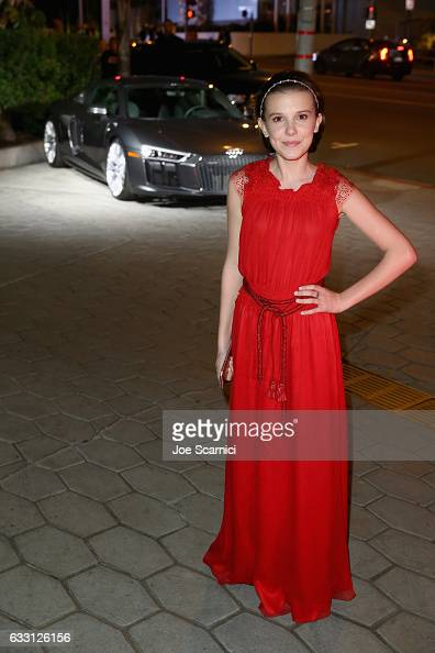 Actress Millie Bobby Brown attends The Weinstein Company Netflix's SAG 2017 After Party presented by Audi at Sunset Tower Hotel on January 29 2017 in...