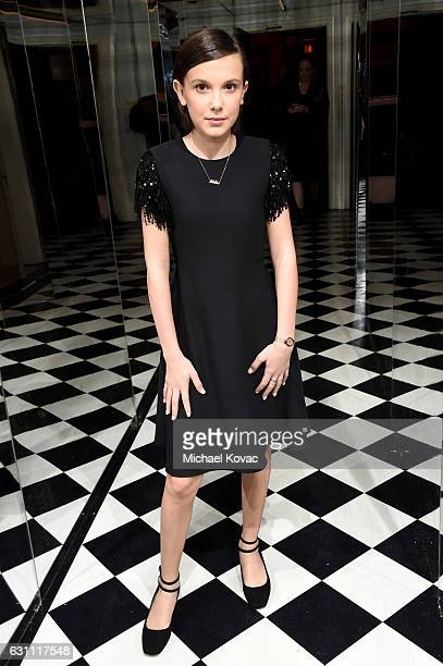 Actress Millie Bobby Brown attends W Magazine Celebrates the Best Performances Portfolio and the Golden Globes with Audi and Moet Chandon at Chateau...