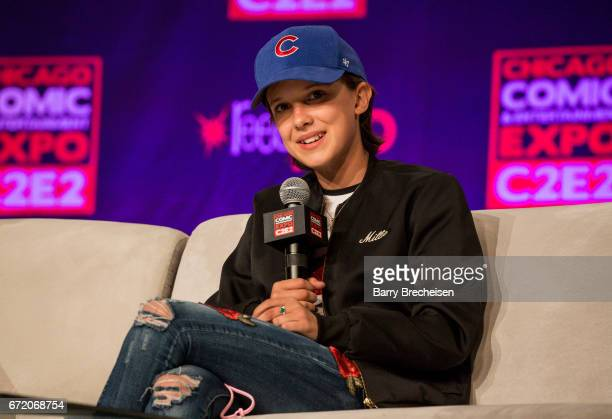 Actress Millie Bobby Brown during the 2017 C2E2 Chicago Comic Entertainment Expo at McCormick Place on April 23 2017 in Chicago Illinois