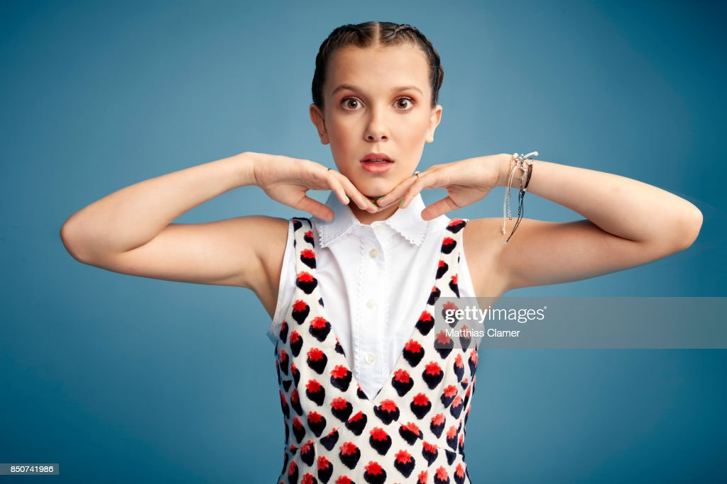 Actress Millie Bobby Brown from Stranger Things is photographed for Entertainment Weekly Magazine on July 22, 2017 at Comic Con in San Diego, California. PUBLISHED