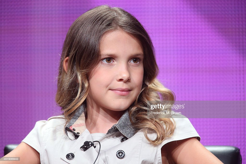 Actress Millie Brown speaks onstage at the 'Intruders' panel during the BBC America portion of the 2014 Summer Television Critics Association at The Beverly Hilton Hotel on July 9, 2014 in Beverly Hills, California.