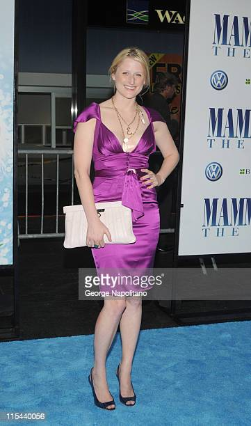 Actress Mimi Gummer attends the premiere of 'Mamma Mia' at the Ziegfeld Theatre on July 16 2008 in New York City