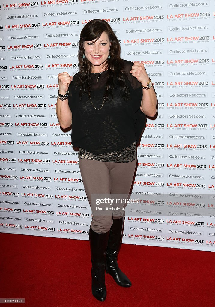 Actress Mimi Lesseos attends the LA Art Show opening night party at Los Angeles Convention Center on January 23, 2013 in Los Angeles, California.