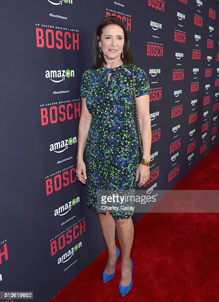 Actress Mimi Rogers attends Amazon Red Carpet Premiere Screening For Season Two Of Original Drama Series 'Bosch' on March 3 2016 in Los Angeles...
