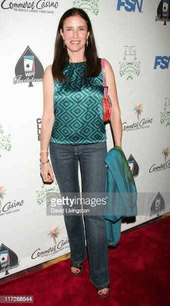 Actress Mimi Rogers attends the 7th annual Celebrity World Poker Tournament at the Commerce Casino on February 28 2009 in Commerce California