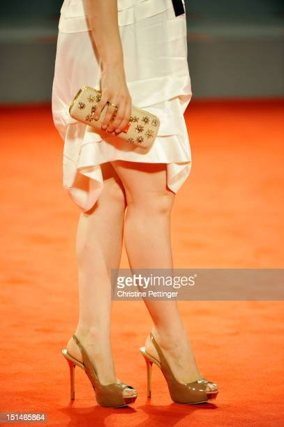 Actress Mina Tander attends the 'Forgotten' Premiere during the 69th Venice Film Festival at the Palazzo del Cinema on September 7 2012 in Venice...