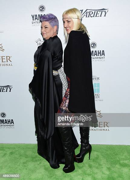 Actress Mindy Cohn and designer Estel Day arrive at the 4th Annual Beyond Hunger Gala at Montage Beverly Hills on September 18 2015 in Beverly Hills...
