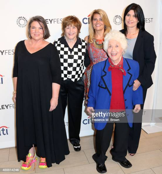 Actress Mindy Cohn Geri Jewell Lisa Whelchel Charlotte Rae and Nancy McKeon attend The Paley Center for Media's PaleyFest 2014 Fall TV Preview 'The...