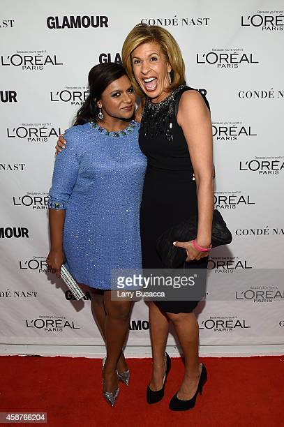 Actress Mindy Kaling and news anchor Hoda Kotb attend the Glamour 2014 Women Of The Year Awards at Carnegie Hall on November 10 2014 in New York City