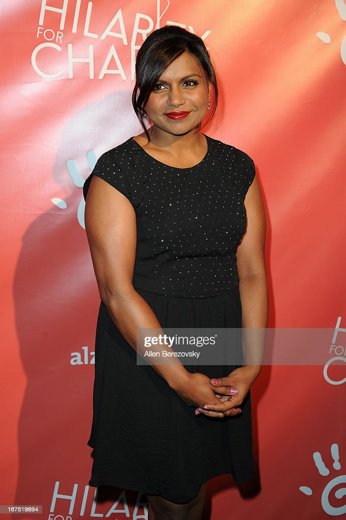 Actress Mindy Kaling arrives at Hilarity For Charity fundraiser benefiting The Alzheimer's Association at Avalon on April 25, 2013 in Hollywood, California.