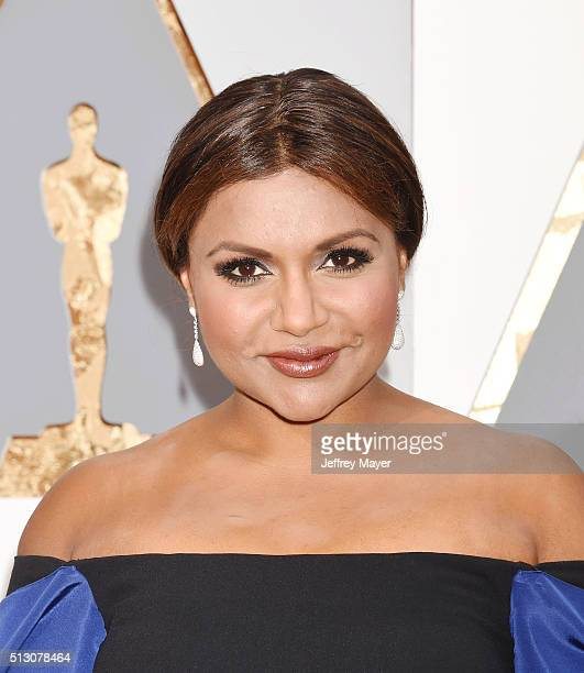 Actress Mindy Kaling arrives at the 88th Annual Academy Awards at Hollywood Highland Center on February 28 2016 in Hollywood California