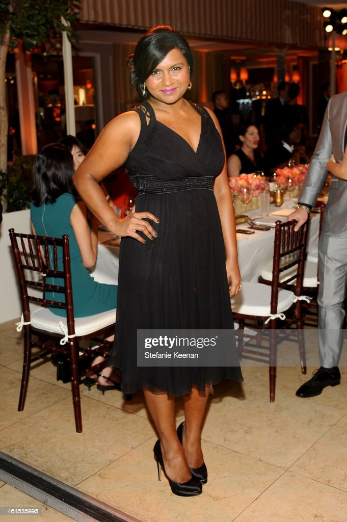 Actress <a gi-track='captionPersonalityLinkClicked' href=/galleries/search?phrase=Mindy+Kaling&family=editorial&specificpeople=743884 ng-click='$event.stopPropagation()'>Mindy Kaling</a> attends ELLE's Annual Women in Television Celebration on January 22, 2014 in West Hollywood, California.
