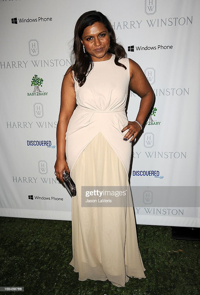 Actress Mindy Kaling attends the 1st annual Baby2Baby gala at Book Bindery on November 3, 2012 in Culver City, California.