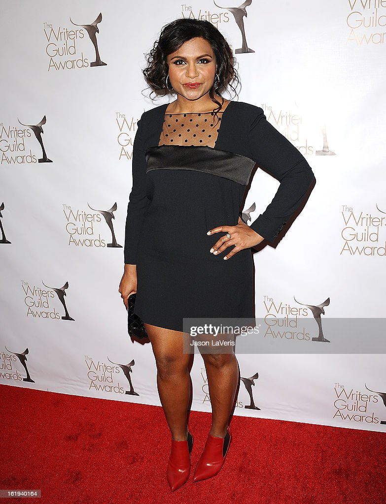 Actress Mindy Kaling attends the 2013 Writers Guild Awards at JW Marriott Los Angeles at L.A. LIVE on February 17, 2013 in Los Angeles, California.