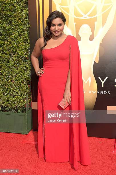 Actress Mindy Kaling attends the 2015 Creative Arts Emmy Awards at Microsoft Theater on September 12 2015 in Los Angeles California
