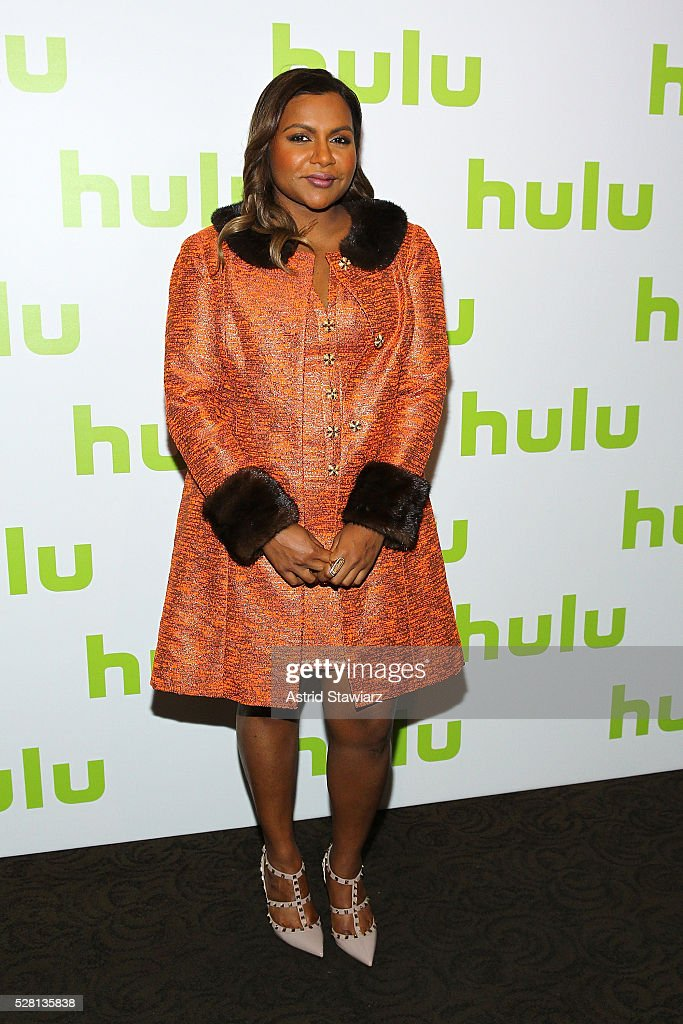 Actress <a gi-track='captionPersonalityLinkClicked' href=/galleries/search?phrase=Mindy+Kaling&family=editorial&specificpeople=743884 ng-click='$event.stopPropagation()'>Mindy Kaling</a> attends the 2016 Hulu Upftont on May 04, 2016 in New York, New York.