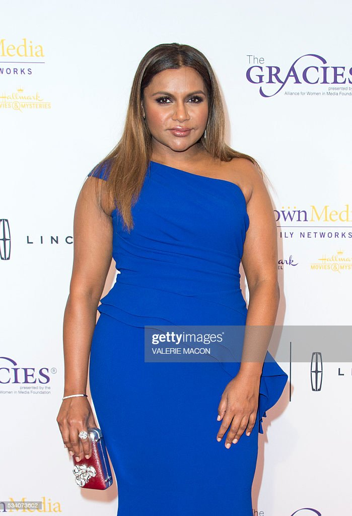 Actress Mindy Kaling attends the 41st Annual Gracies Awards Gala, in Beverly Hills, California, on May 24, 2016. / AFP / VALERIE