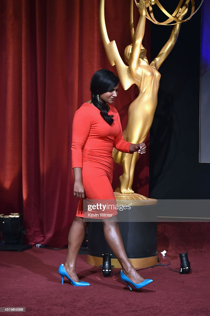 Actress Mindy Kaling attends the 66th Primetime Emmy Awards Nominations at Leonard H. Goldenson Theatre on July 10, 2014 in North Hollywood, California.