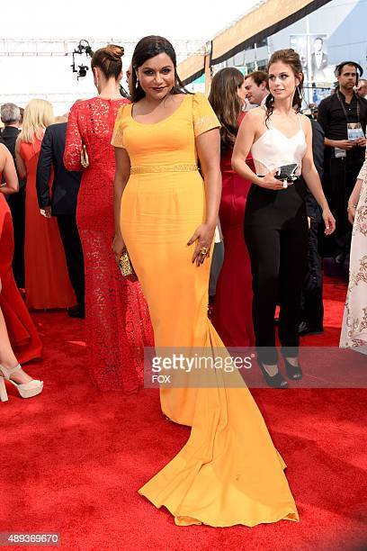 Actress Mindy Kaling attends the 67th Annual Primetime Emmy Awards at Microsoft Theater on September 20 2015 in Los Angeles California